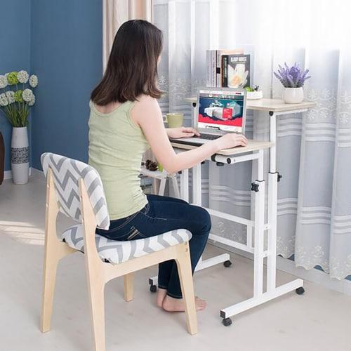 Mind Reader Rolling Sitting & Standing Workstation Perspective: left