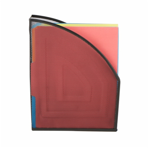 Mind Reader 2-Pack Metal Mesh Desktop File Holder - Black Perspective: left