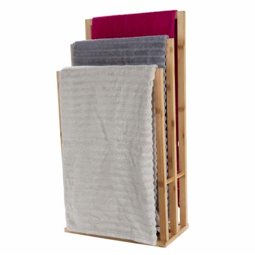 Mind Reader 3-Tier Freestanding Bamboo Drying Rack Perspective: left