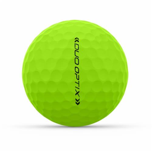 Wilson DUO Optix Golf Ball - Green Perspective: left