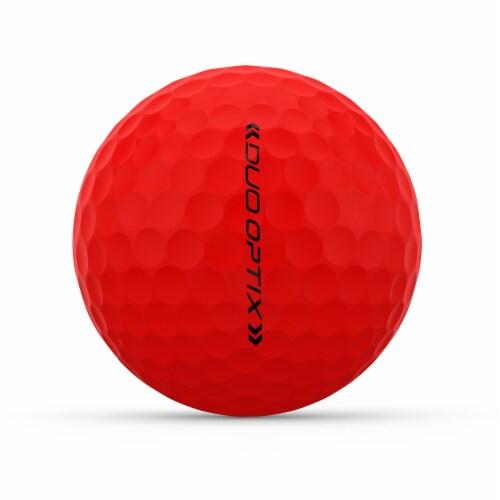 Wilson DUO Optix Golf Ball - Red Perspective: left