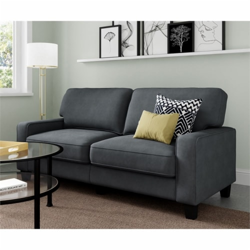 Serta Palisades 73  Sofa in Charcoal Perspective: left