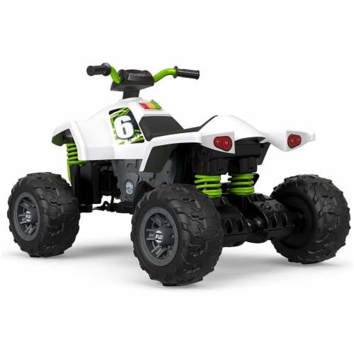 Fisher Price Power Wheels Battery Powered Electric Kids Car ATV Ride Toy, Green Perspective: left