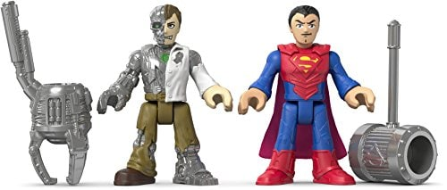 Fisher-Price Imaginext DC Super Friends Action Figures - Superman & Metallo Perspective: left