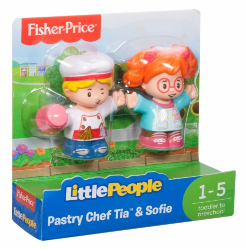 Fisher-Price® Pastry Chef Tia & Sofie Little People Figures Perspective: left