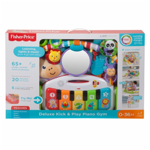 Fisher-Price Deluxe Kick 'n Play Piano Gym Perspective: left