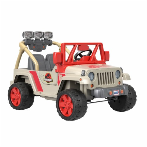 Fisher-Price® Power Wheels Kids Electric 12 Volt Jurassic Park Jeep Perspective: left