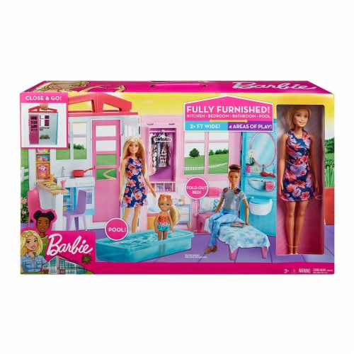 Barbie and Close & Go Doll House - Blonde Perspective: left