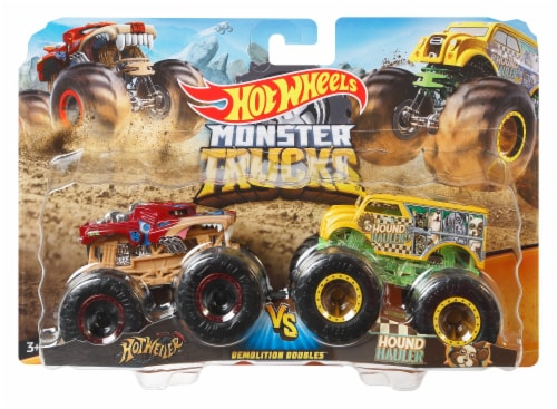 Mattel Hot Wheels® Monster Trucks Demolition Doubles Racing vs Baja Buster Vehicle - Assorted Perspective: left