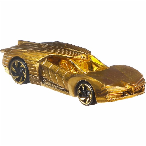 Mattel Hot Wheels DC Universe Golden Armor Character Car Perspective: left
