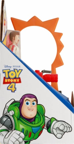 Fisher-Price® Toy Story 4 Duke Caboom Stunt Set Perspective: left