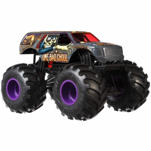 Mattel Hot Wheels® Monster Trucks One Bad Ghoul Vehicle Perspective: left