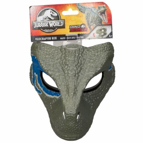 Mattel Jurassic World Velociraptor Camp Cretaceous Mask - Blue Perspective: left