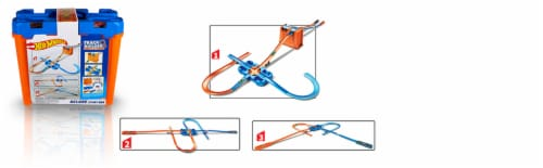 Mattel Hot Wheels® Track Builder Deluxe Stunt Box Track Set Perspective: left