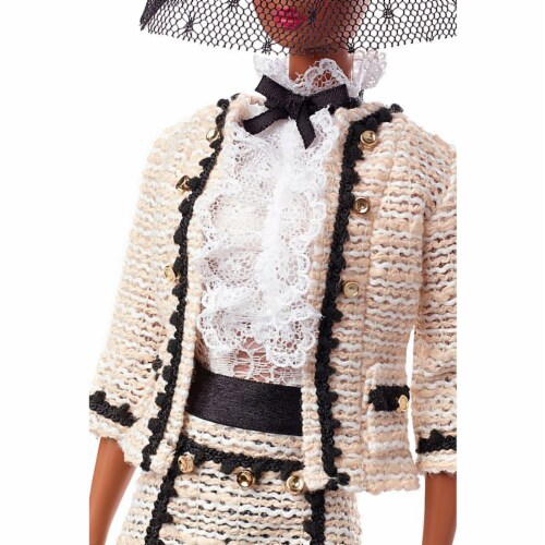 Barbie Fashion Model Collection Best To A Tea Doll with Boucle Suit Ensemble Perspective: left