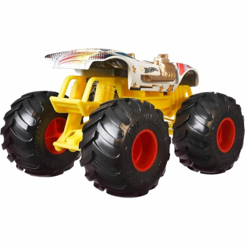 Mattel Hot Wheels® Monster Trucks Giant Wheels Twin Mill Vehicle Perspective: left