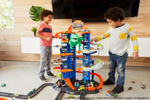 Mattel Hot Wheels® City Ultimate Garage Robo T-Rex Multi-Level Tower Set Perspective: left