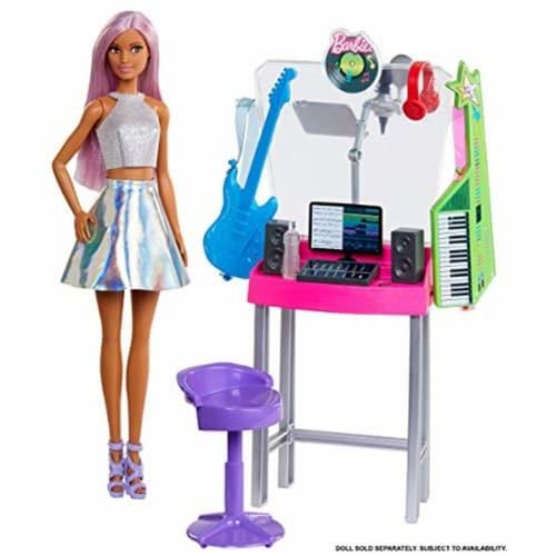 Mattel Barbie® Career Places Musician Recording Studio Playset Perspective: left