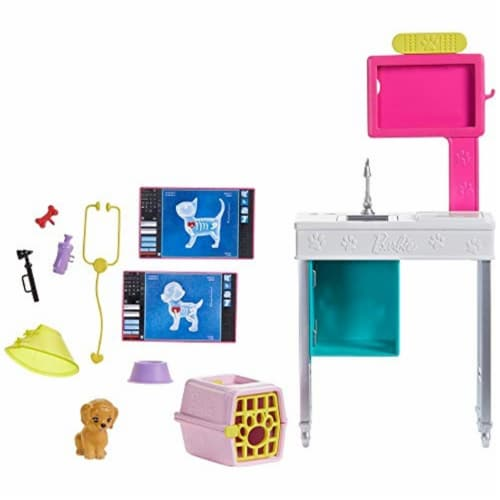 Mattel Barbie® Career Places Pet Vet Office Playset Perspective: left