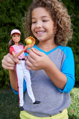 Mattel Barbie® Softball Doll Perspective: left