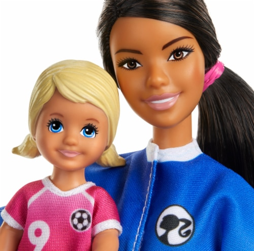 Mattel Barbie  Soccer Coach Dolls Perspective: left