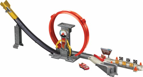 Mattel Disney Pixar Cars XRS Rocket Racing Super Loop Playset Perspective: left