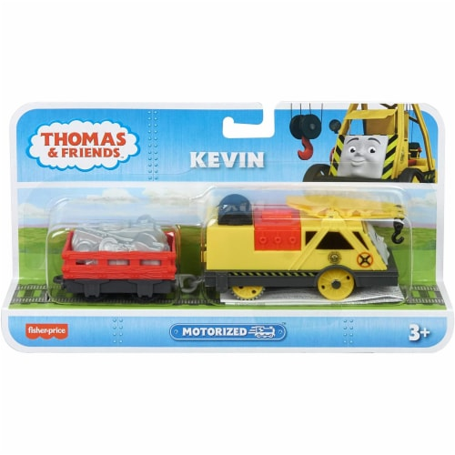 Thomas & Friends Fisher-Price Trackmaster Kevin Motorized Toy Train Engine Perspective: left