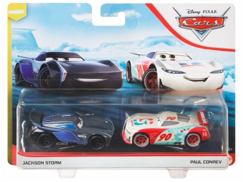 Disney Pixar Cars Jackson Storm & Paul Conrev Toy Racers Perspective: left
