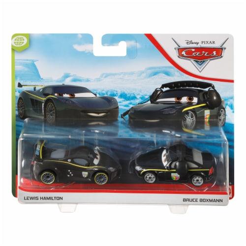 ACTION Cars 1:55 Scale Die Cast Car Set Lewis Hamilton and Bruce Boxmann Perspective: left