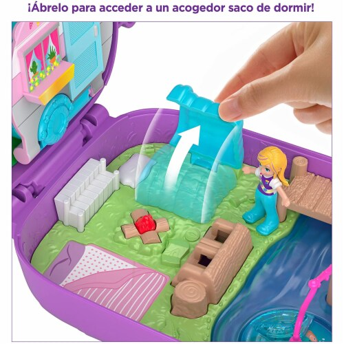 Polly Pocket Pocket World Owlnite Campsite Compact Play Set Perspective: left