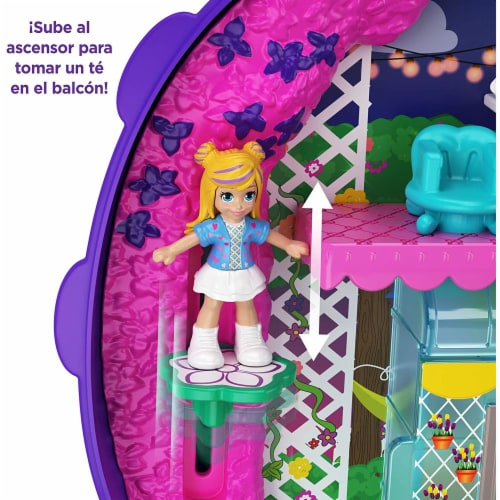 Polly Pocket Pocket World Lil' Ladybug Garden Compact Playset Perspective: left