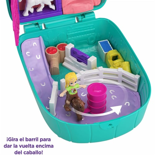 Polly Pocket Pocket World Cactus Cowgirl Ranch Compact Playset Perspective: left