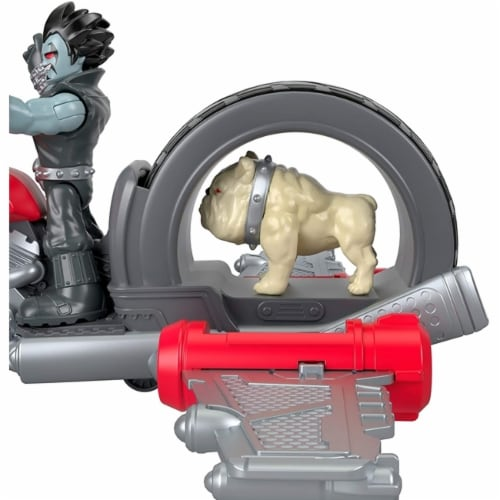 Fisher-Price Imaginext DC Super Friends Lobo & Motorcycle Perspective: left