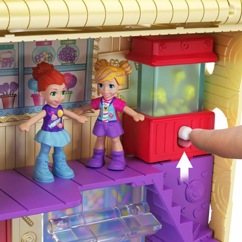 Pollyville Candy Store with 4 Floors, 2 Dolls and 5 Accessories Perspective: left