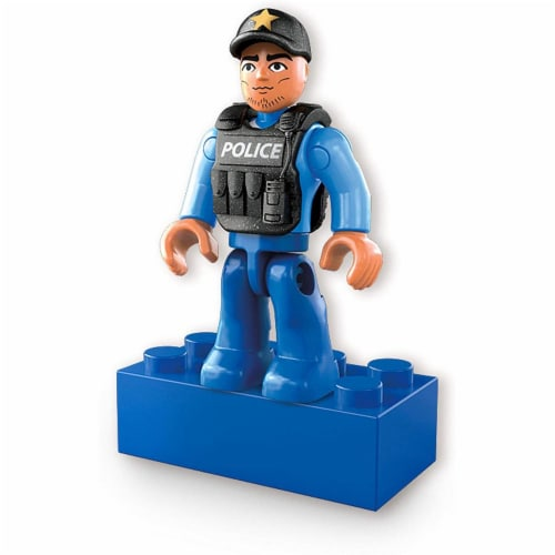 Mega Construx Wonder Builders, Police ATV (50 Pcs) Perspective: left