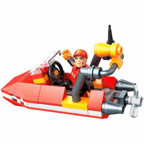 Mega Construx Wonder Builders, Rescue Boat ( 50 Pcs) Perspective: left