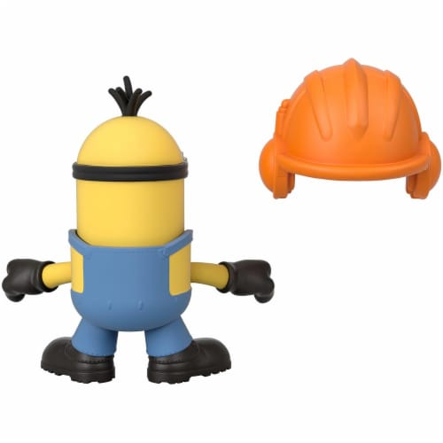 Fisher Price Despicable Me Minions: Rise of Gru Imaginext Kevin with Hard Hat Mini Figure Perspective: left
