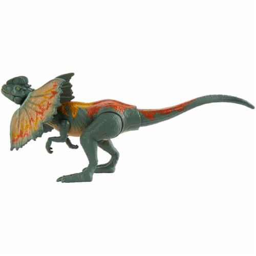 Jurassic World Savage Strike Dilophosaurus Figure Perspective: left