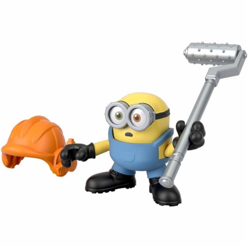 Fisher Price Despicable Me Minions: Rise of Gru Imaginext Bob with Hard Hat Mini Figure Perspective: left