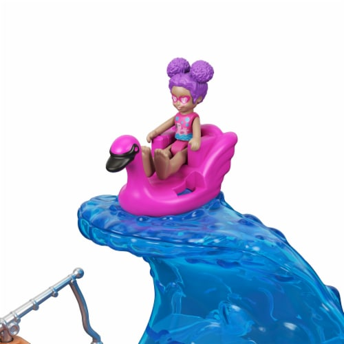 Mattel Polly Pocket Pollyville Sunshine Beach Playset Perspective: left