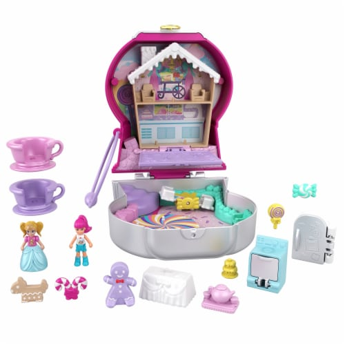 Mattel® Polly Pocket™ Candy Cutie Gumball Compact Playset Perspective: left