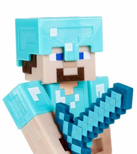 Minecraft Craft A Block Steve Iron Golem Figure Set Perspective: left