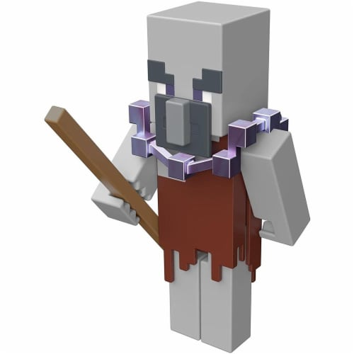 Minecraft Dungeons 3.25-in Collectible Geomancer Battle Figure and Accessories Perspective: left