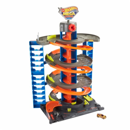 Mattel™ Hot Wheels® City Mega Garage Playset Perspective: left