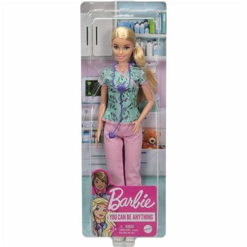 Barbie Pro Nurse Doll Perspective: left