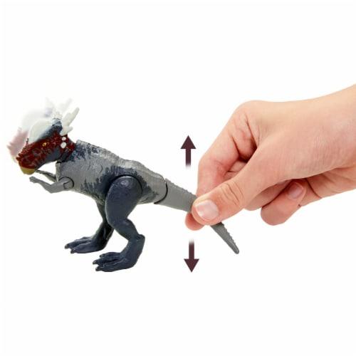 Mattel® Jurassic World Savage Strike Stygimoloch Stiggy Dinosaur Perspective: left