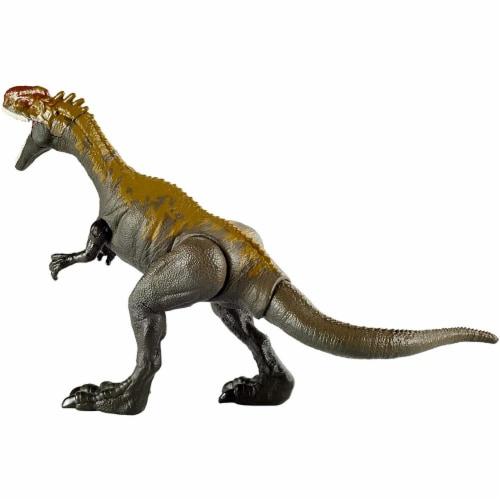 Jurassic World Camp Cretaceous Savage Strike Monolophosaurus Dinosaur Figure w/ Attack Move Perspective: left