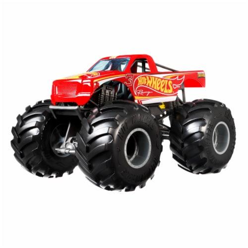 Mattel Hot Wheels® Monster Trucks Red Racing 3 Vehicle Perspective: left