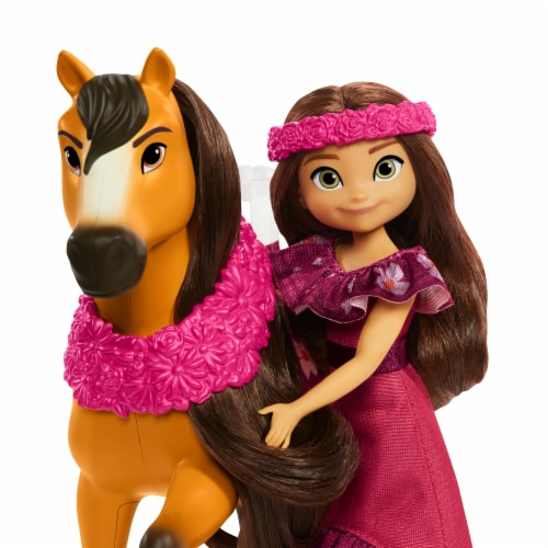 Mattel Spirit Untamed Miradero Festival Lucky and Spirit Playset Perspective: left