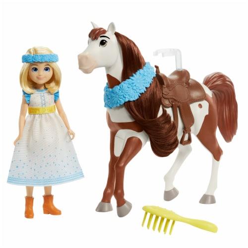 Mattel Spirit Untamed Miradero Festival Abigail & Boomerang Doll Set Perspective: left